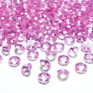 Dekorační akrylové diamanty 100 ks - růžové